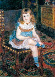 Pierre-Auguste Renoir (1841-1919) Mademoiselle Georgette Charpentier assise, 1876 Tokyo, Bridgestone Museum of Art © Bridgestone Museum of Art, Ishibashi Foundation