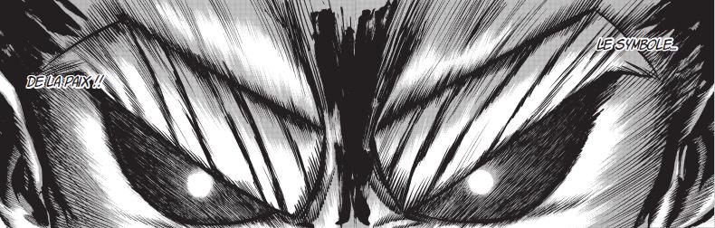 All Might et son regard déterminé ! BOKU NO HERO ACADEMIA © 2014 by Kohei Horikoshi / SHUEISHA Inc.