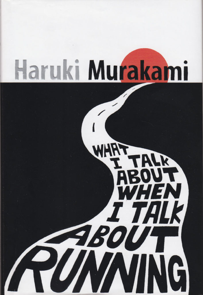 Couverture anglaise de What I Talk about when I talk about running de Haruki Murakami