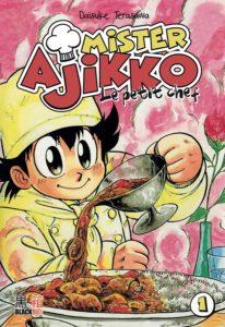 Couverture du tome 1 de Mister Ajikko le petit chef chez Black Box Editions