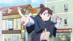 Akko dans l'anime Little Witch Academia