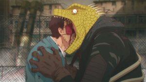 Screenshot tiré de l'anime Dorohedoro 1
