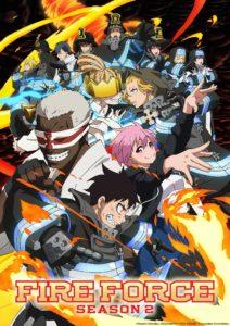 Affiche de la saison 2 de l'anime de Fire Force sur Wakanim
